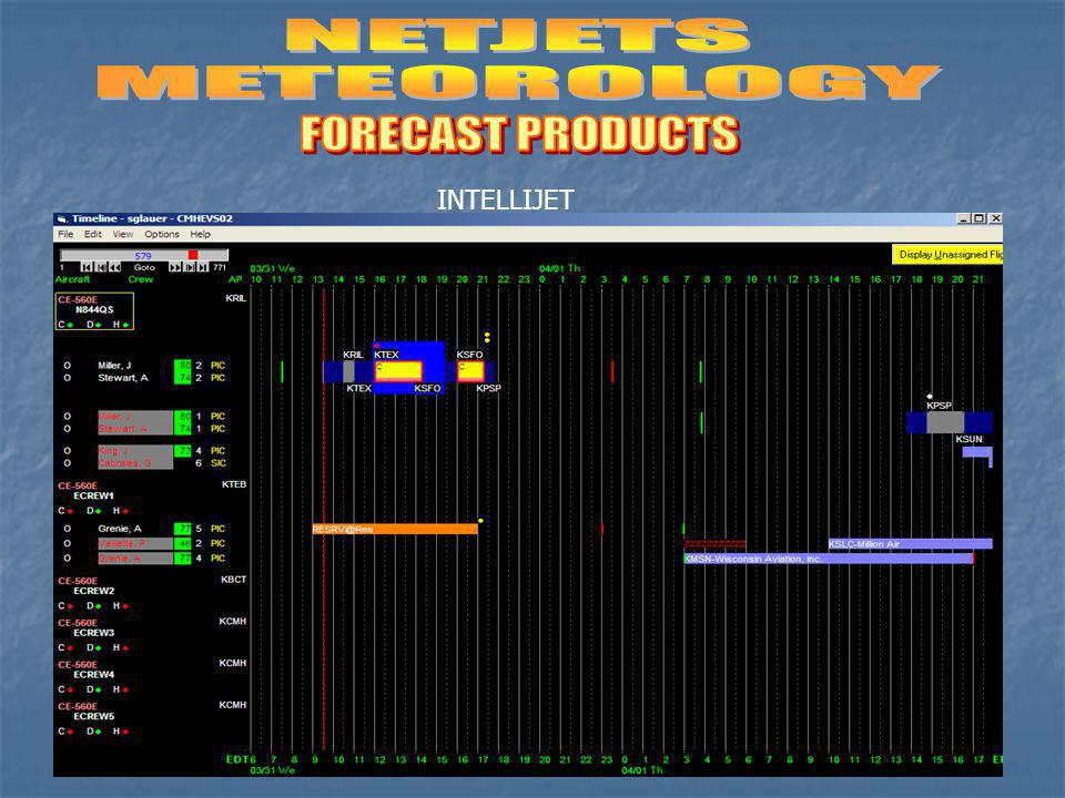 NETJETS METEOROLOGY FORECAST PRODUCTS INTELLIJET