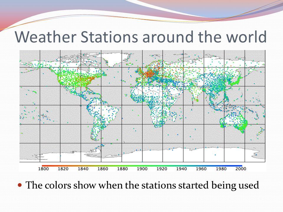 Weather Stations around the world