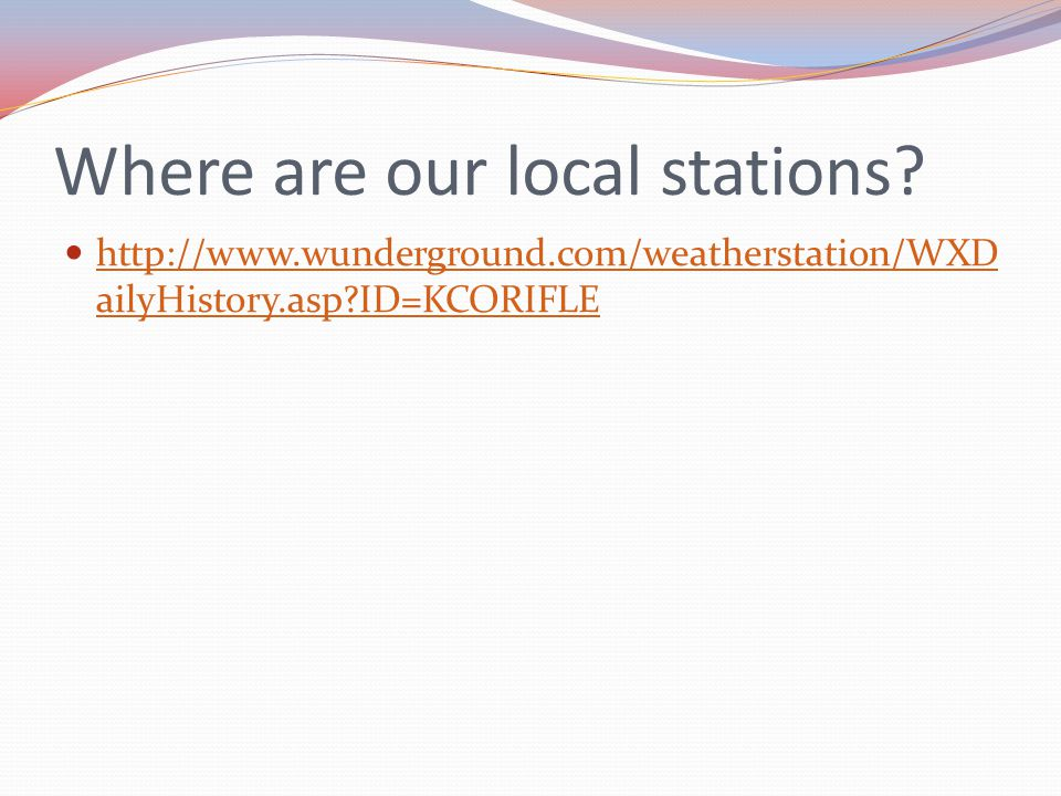 Where are our local stations