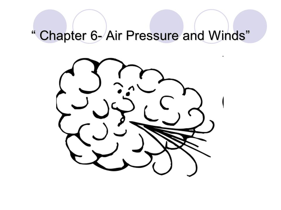 Chapter 6- Air Pressure and Winds