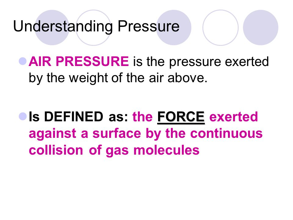 Understanding Pressure