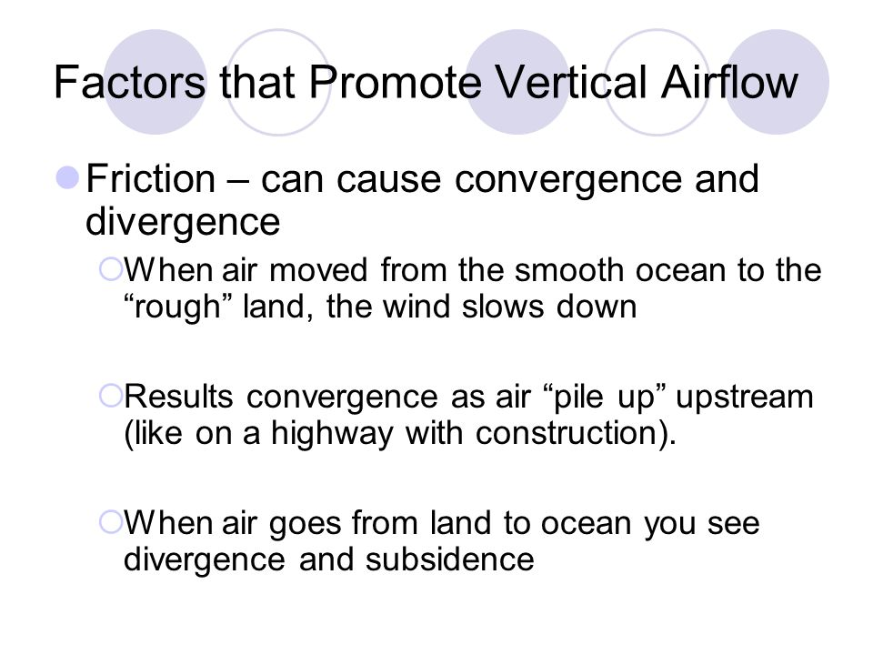 Factors that Promote Vertical Airflow