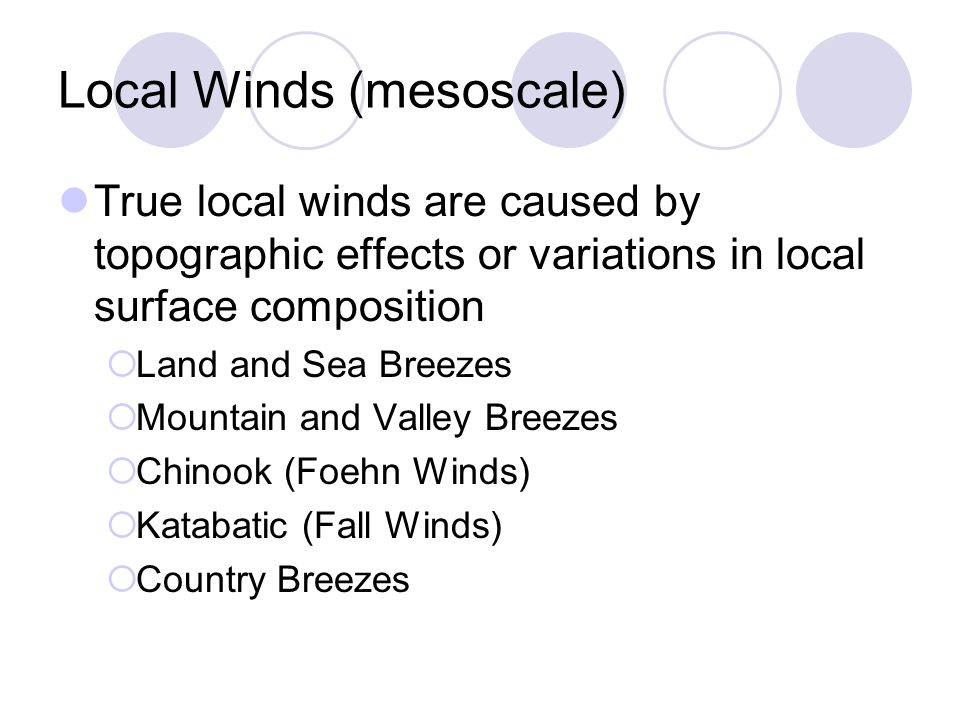 Local Winds (mesoscale)