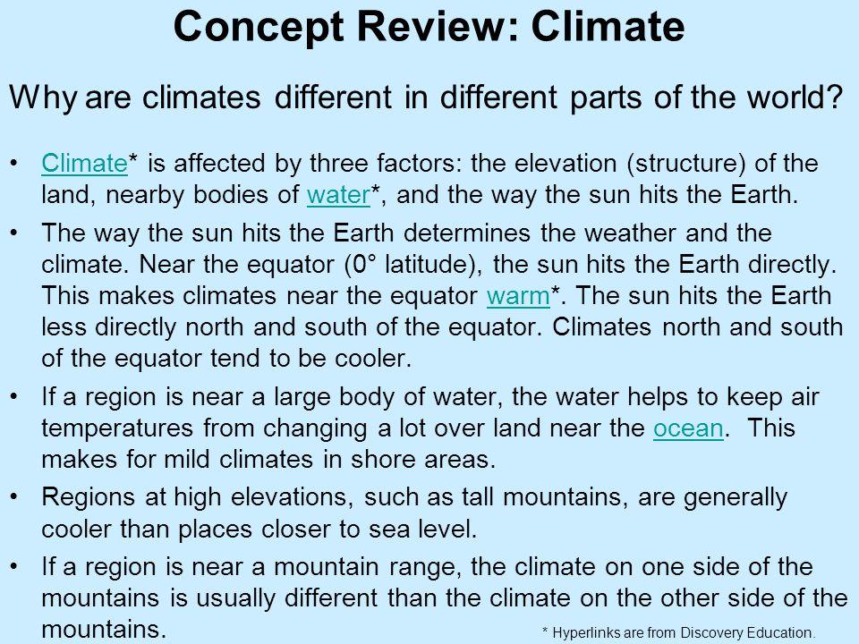Concept Review: Climate