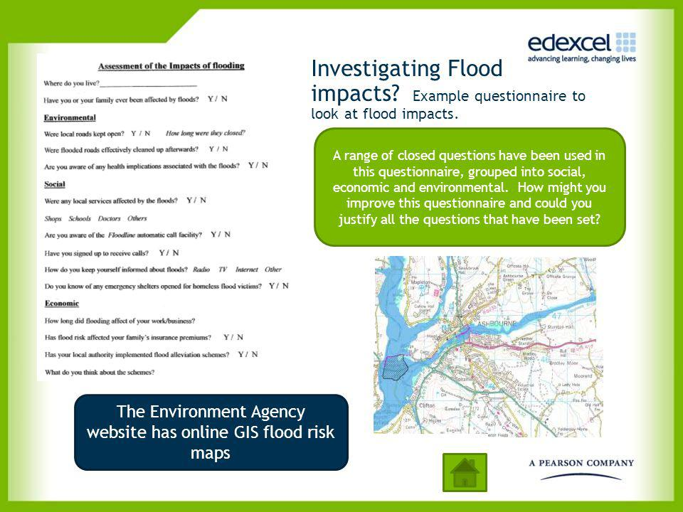 The Environment Agency website has online GIS flood risk maps