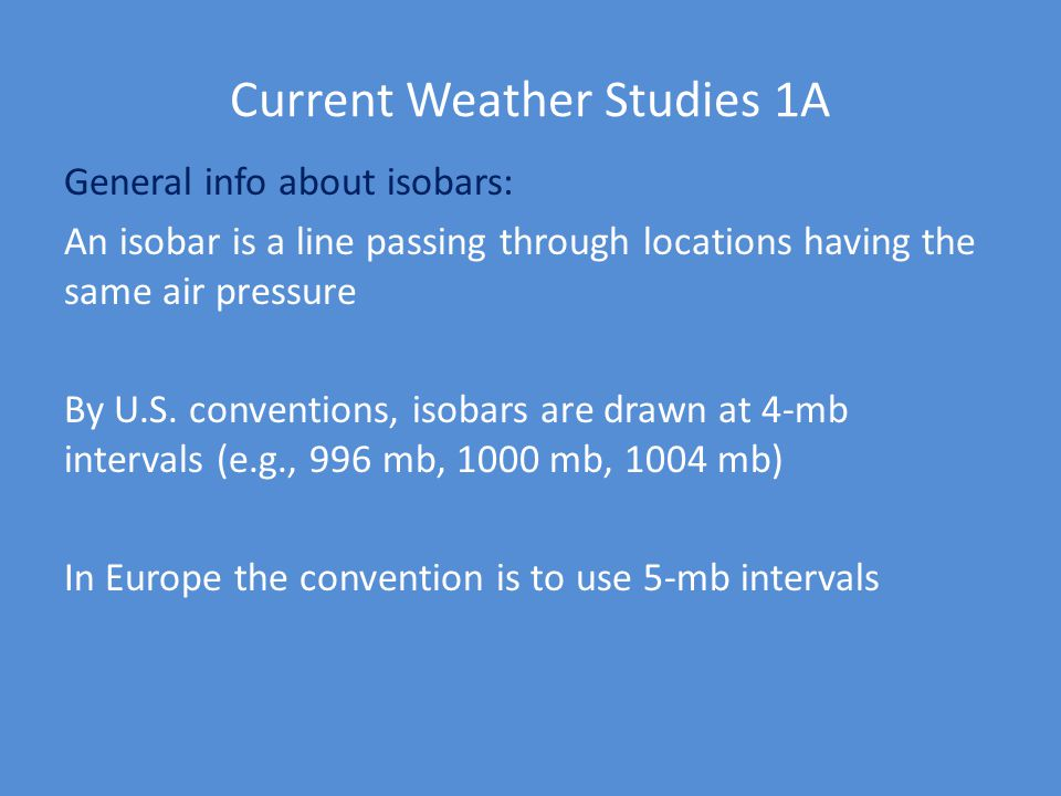 Current Weather Studies 1A