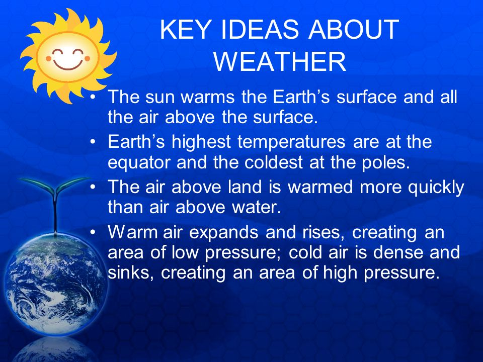 KEY IDEAS ABOUT WEATHER