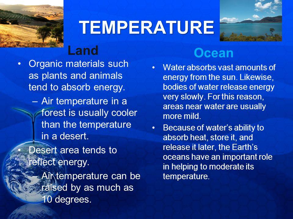 TEMPERATURE Land Ocean