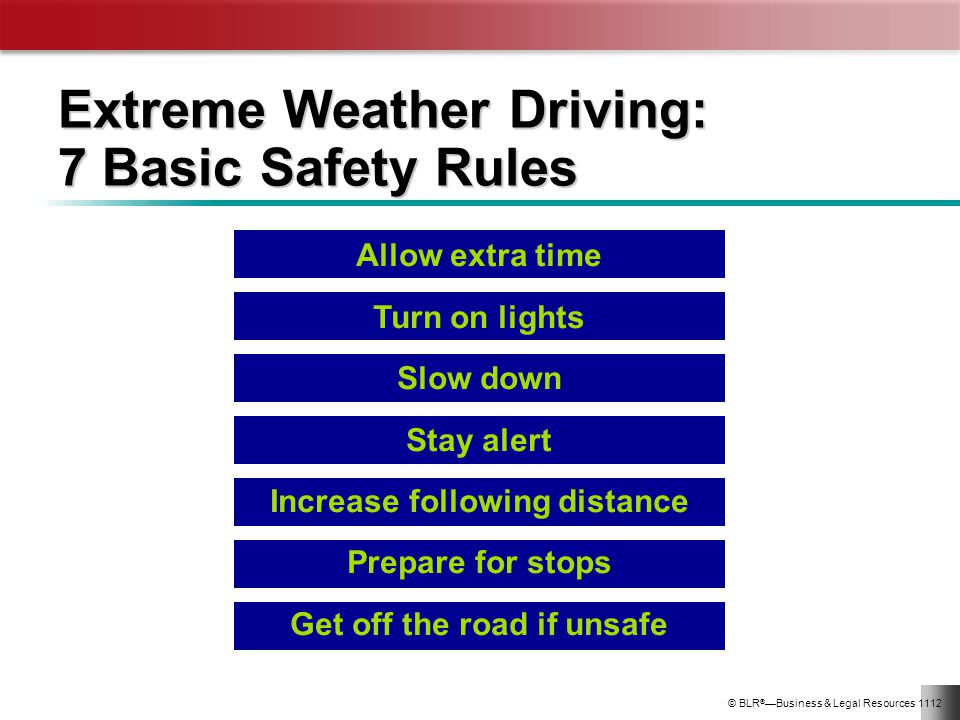 Extreme Weather Driving: 7 Basic Safety Rules