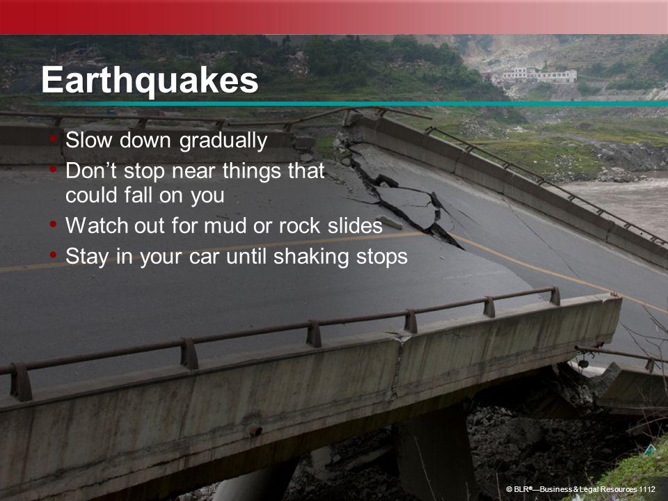 Earthquakes Slow down gradually