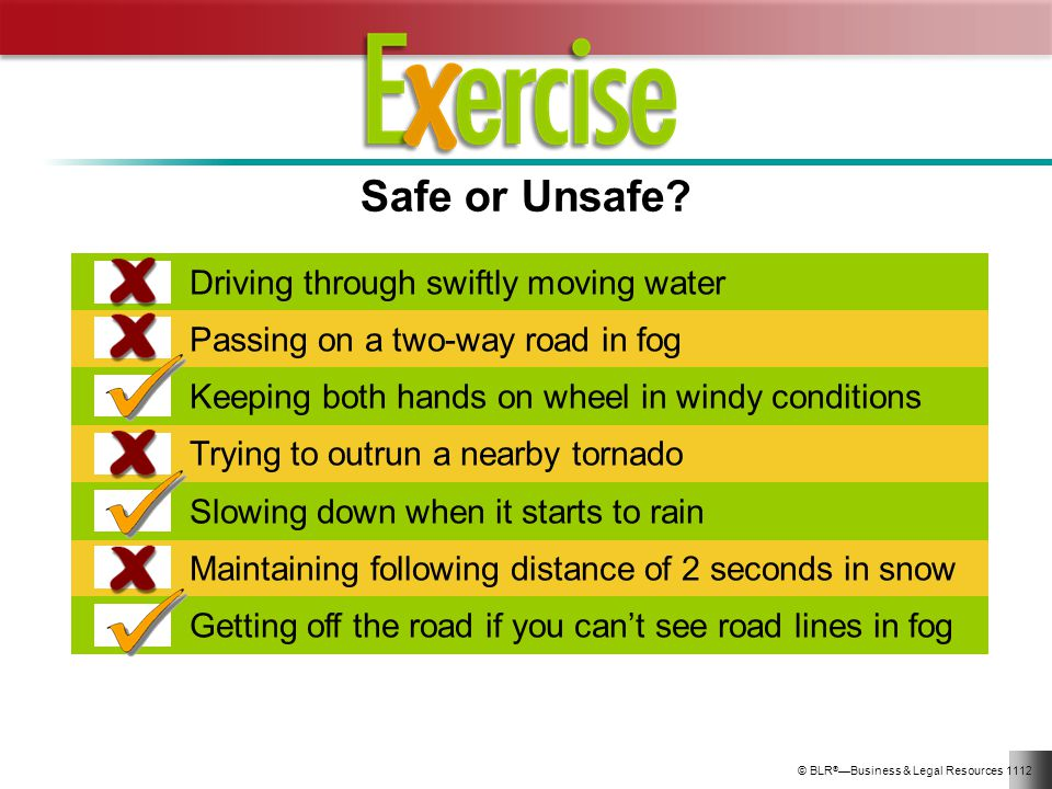 Safe or Unsafe Driving through swiftly moving water
