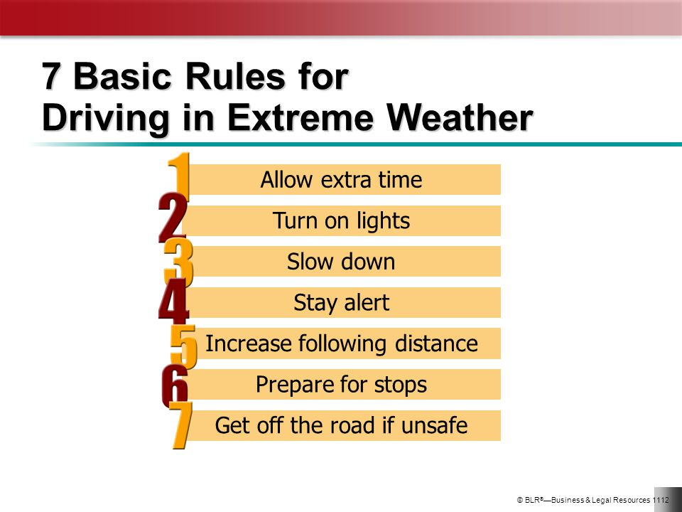 7 Basic Rules for Driving in Extreme Weather