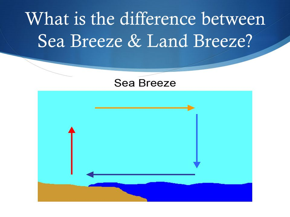 What is the difference between Sea Breeze & Land Breeze