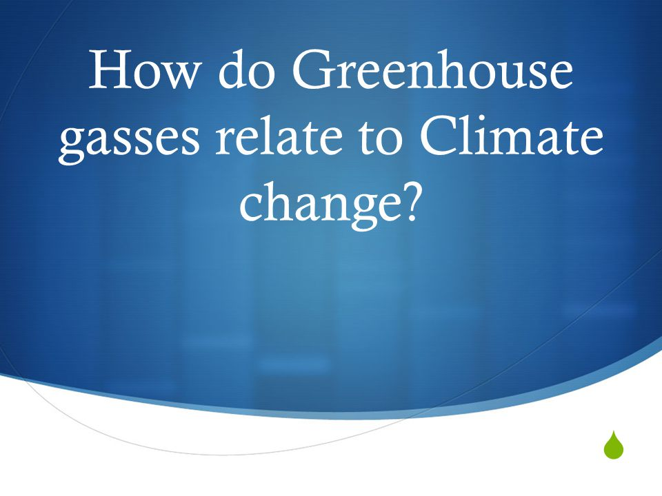 How do Greenhouse gasses relate to Climate change