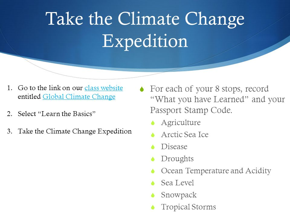 Take the Climate Change Expedition