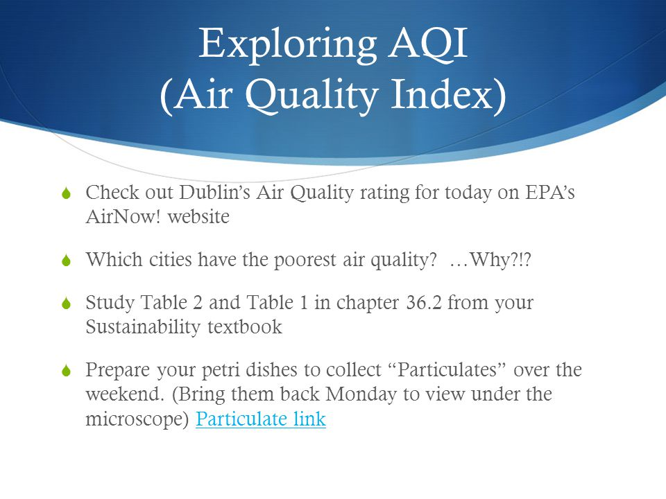 Exploring AQI (Air Quality Index)