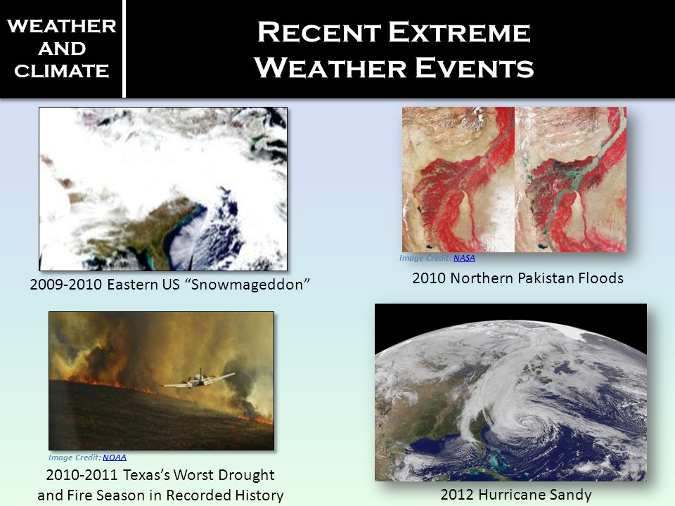 Recent Extreme Weather Events