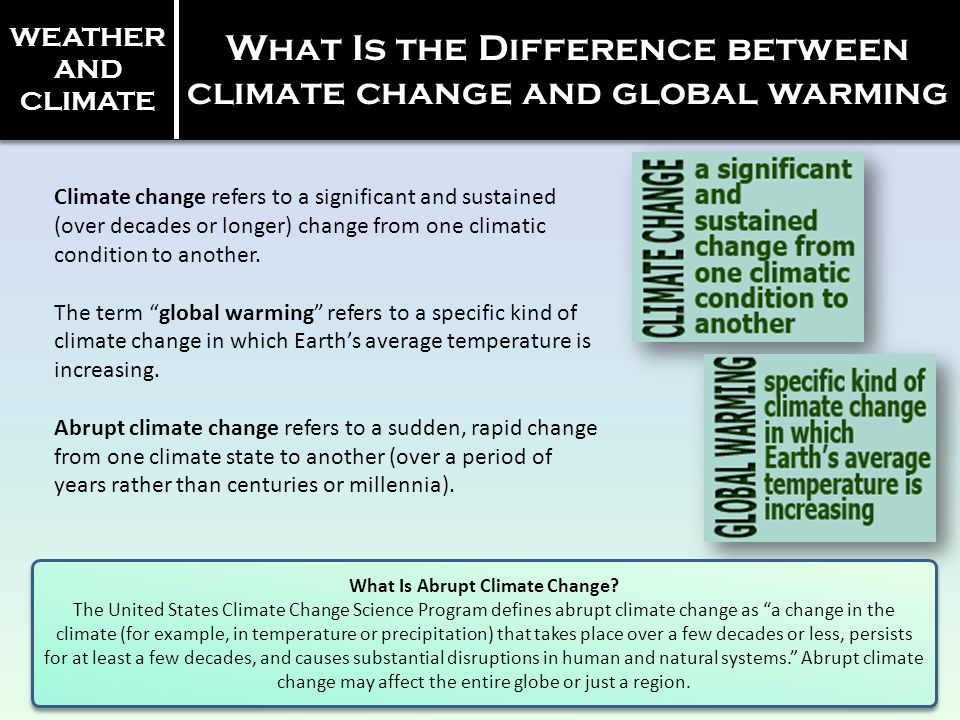 What Is the Difference between climate change and global warming