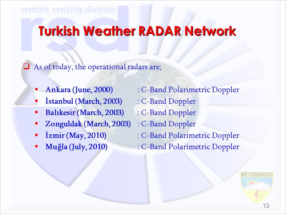 Turkish Weather RADAR Network