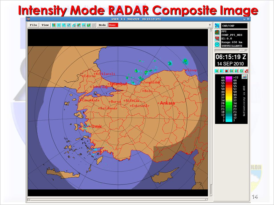 Intensity Mode RADAR Composite Image