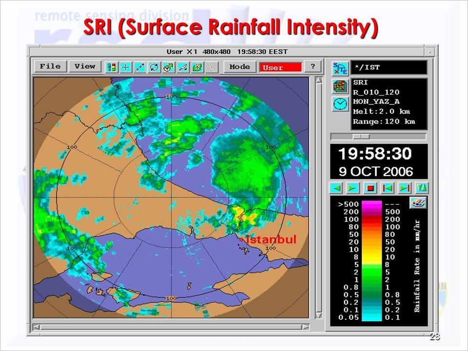 SRI (Surface Rainfall Intensity)
