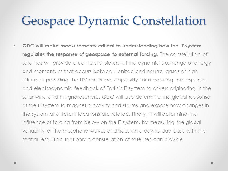 Geospace Dynamic Constellation