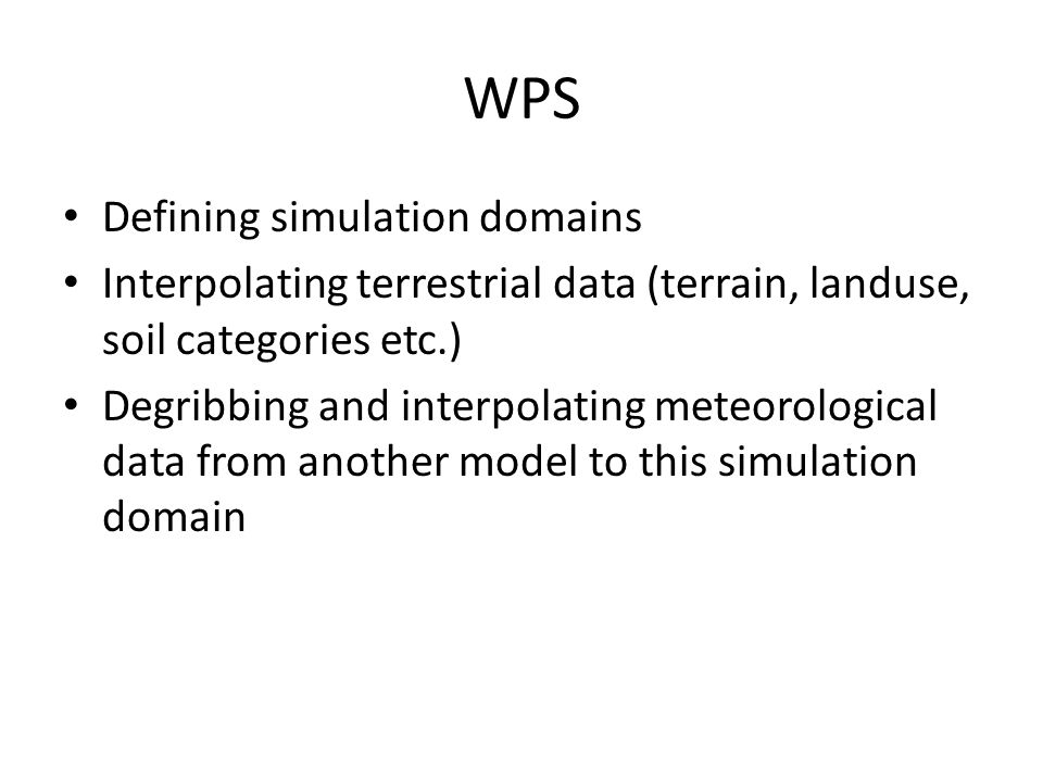WPS Defining simulation domains