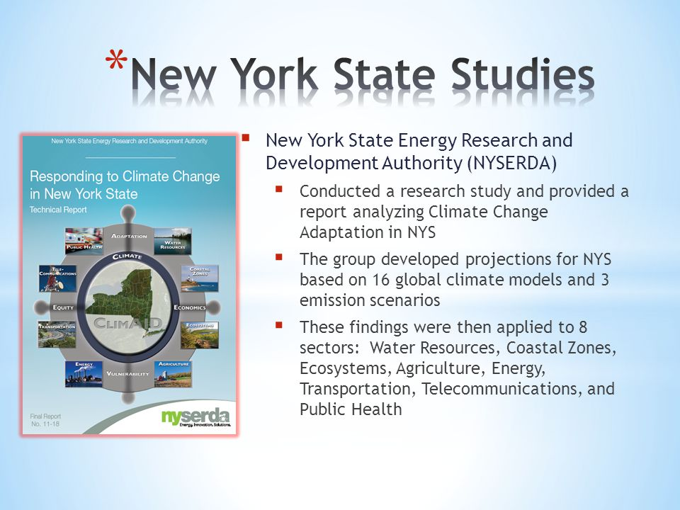 New York State Studies New York State Energy Research and Development Authority (NYSERDA)