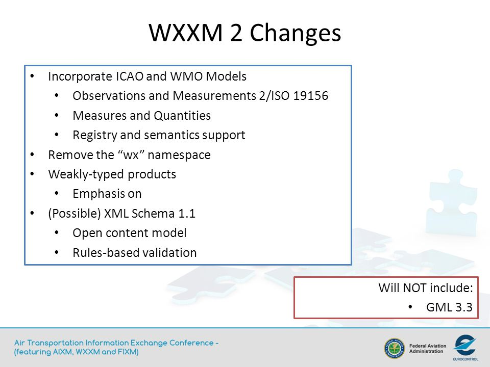 WXXM 2 Changes Incorporate ICAO and WMO Models