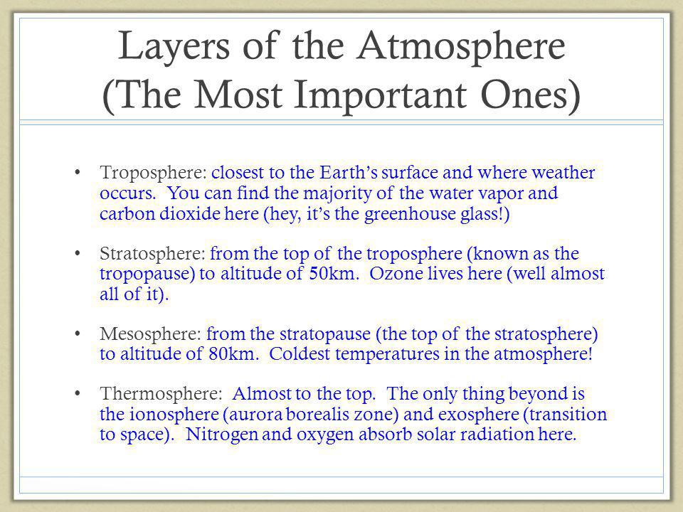 Layers of the Atmosphere (The Most Important Ones)