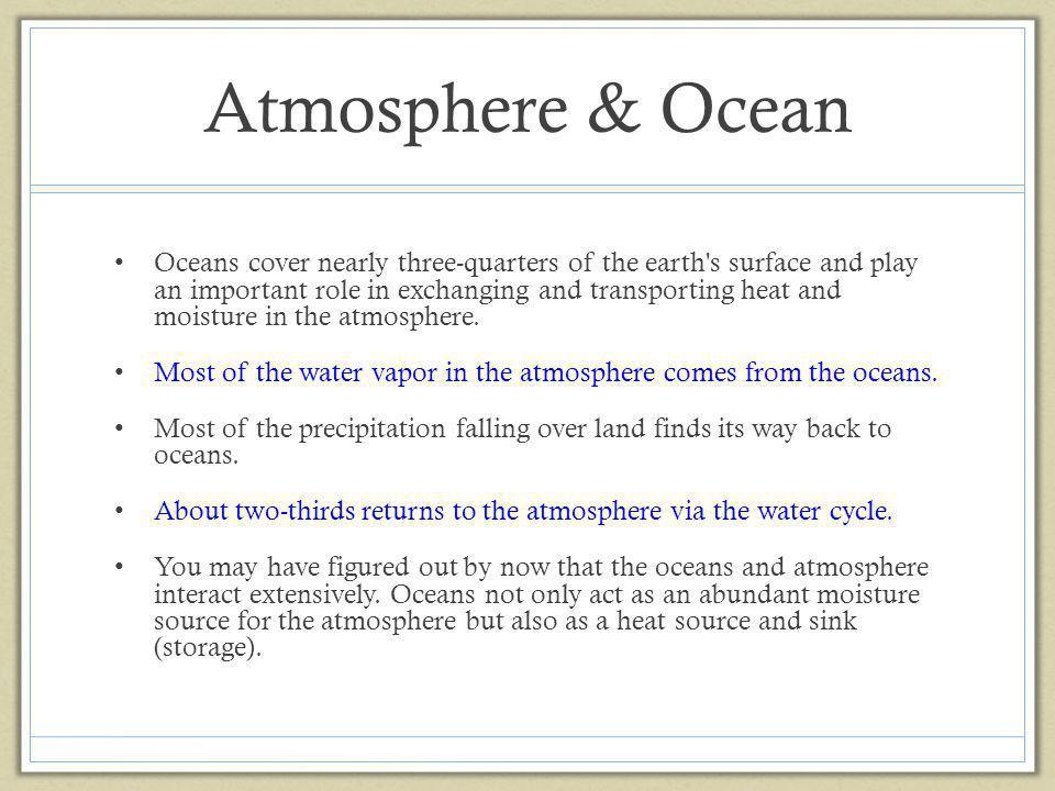 Atmosphere & Ocean