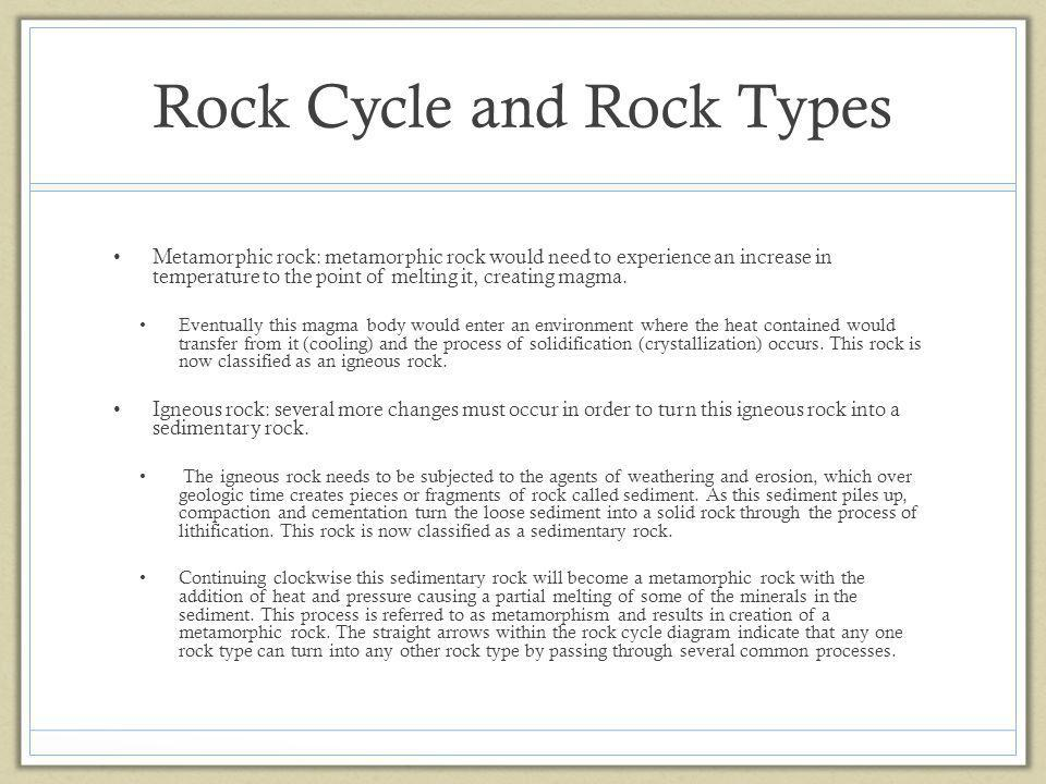 Rock Cycle and Rock Types