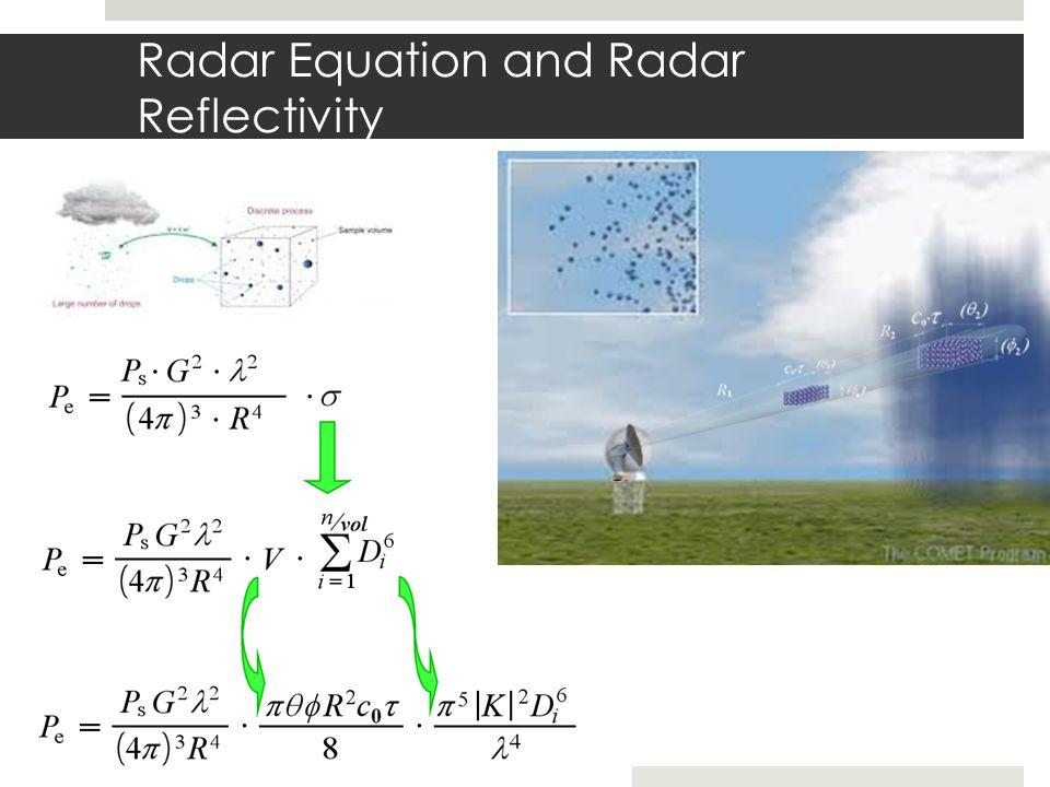 Radar Equation and Radar Reflectivity