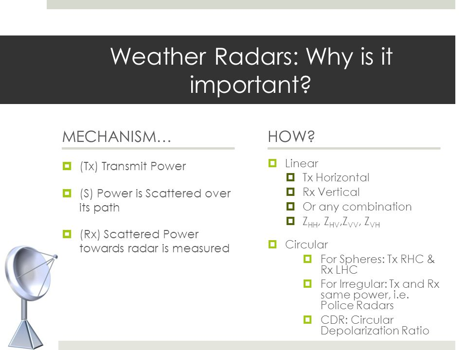 Weather Radars: Why is it important