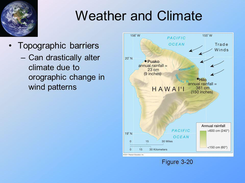 Weather and Climate Topographic barriers
