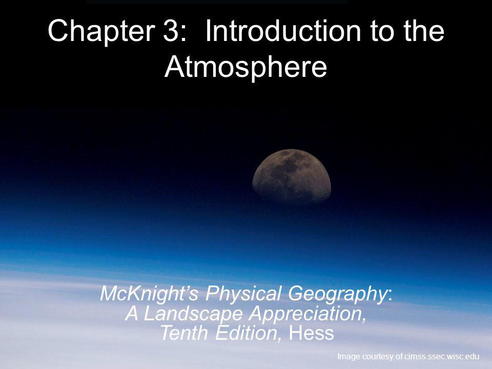 Chapter 3: Introduction to the Atmosphere