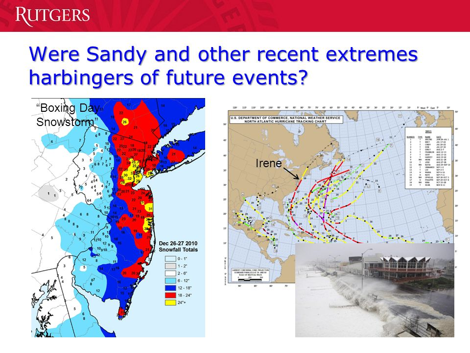 Were Sandy and other recent extremes harbingers of future events