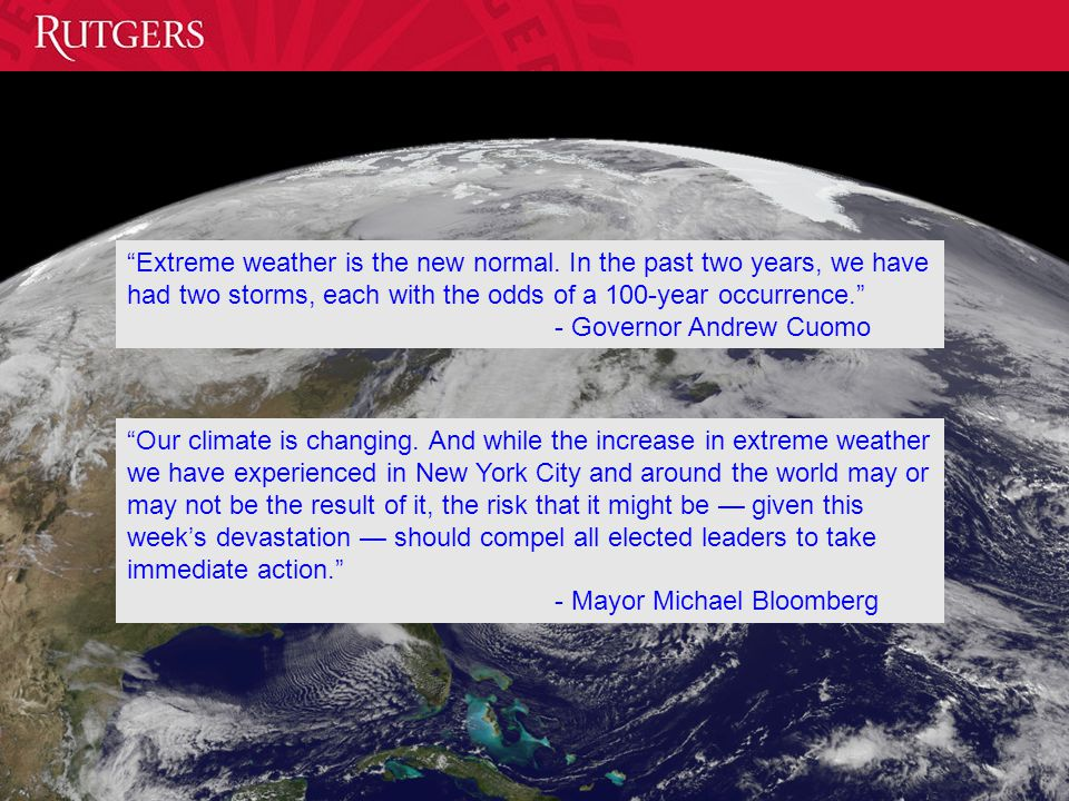 Extreme weather is the new normal