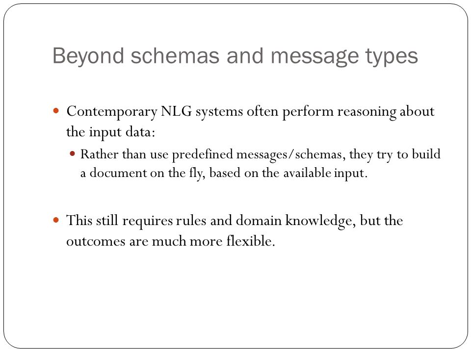 Beyond schemas and message types