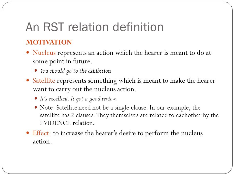 An RST relation definition