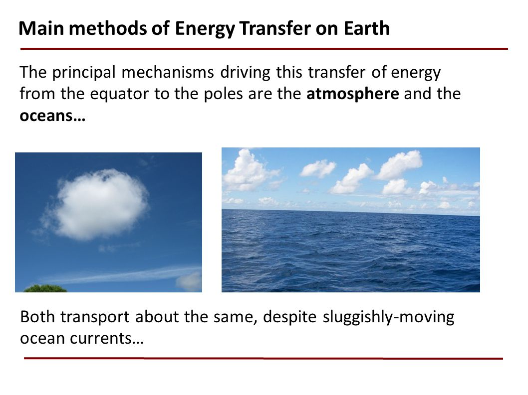 Main methods of Energy Transfer on Earth