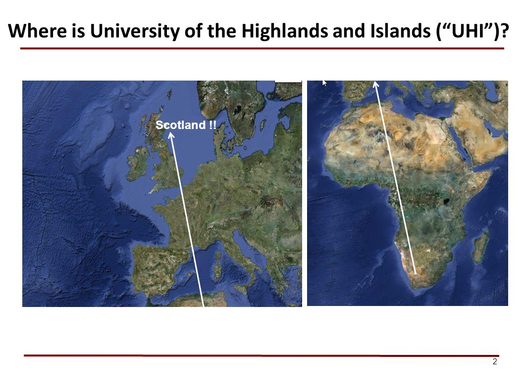 Where is University of the Highlands and Islands ( UHI )