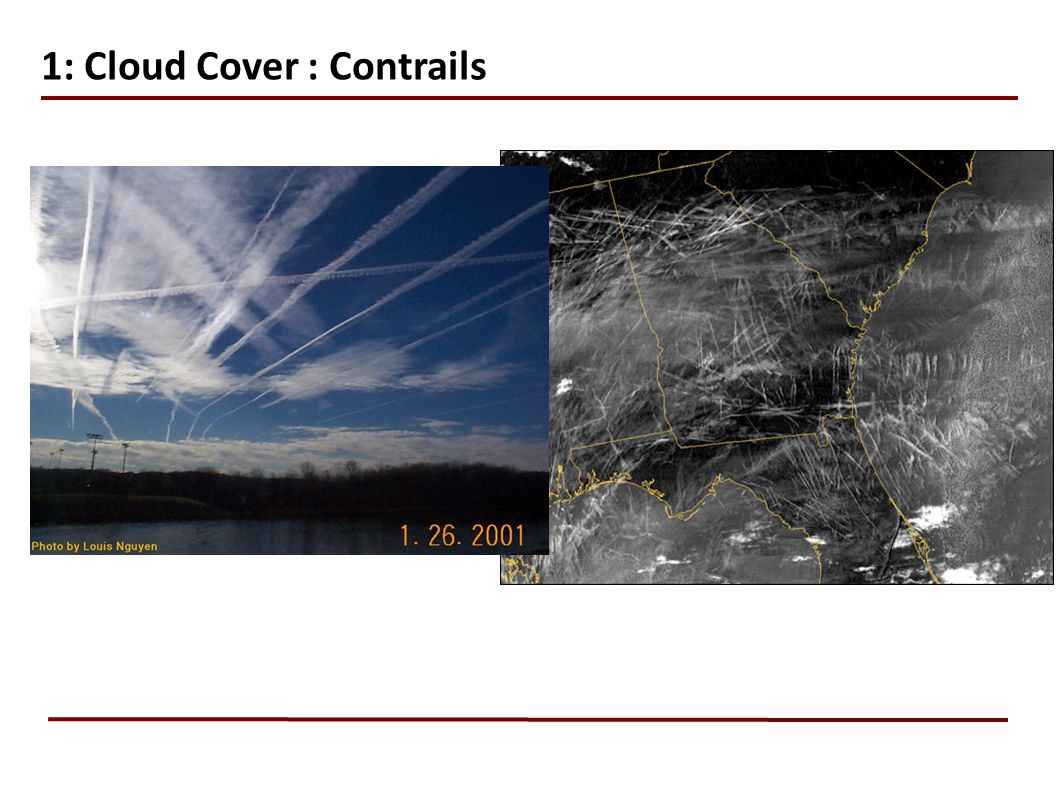 1: Cloud Cover : Contrails