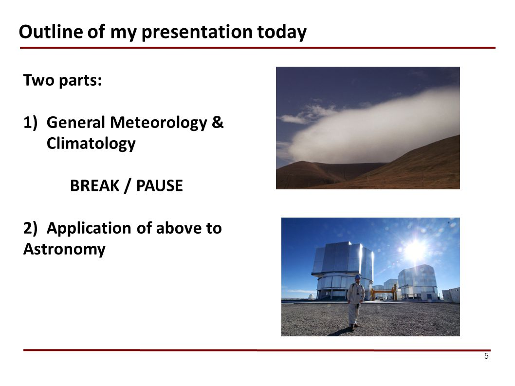Outline of my presentation today
