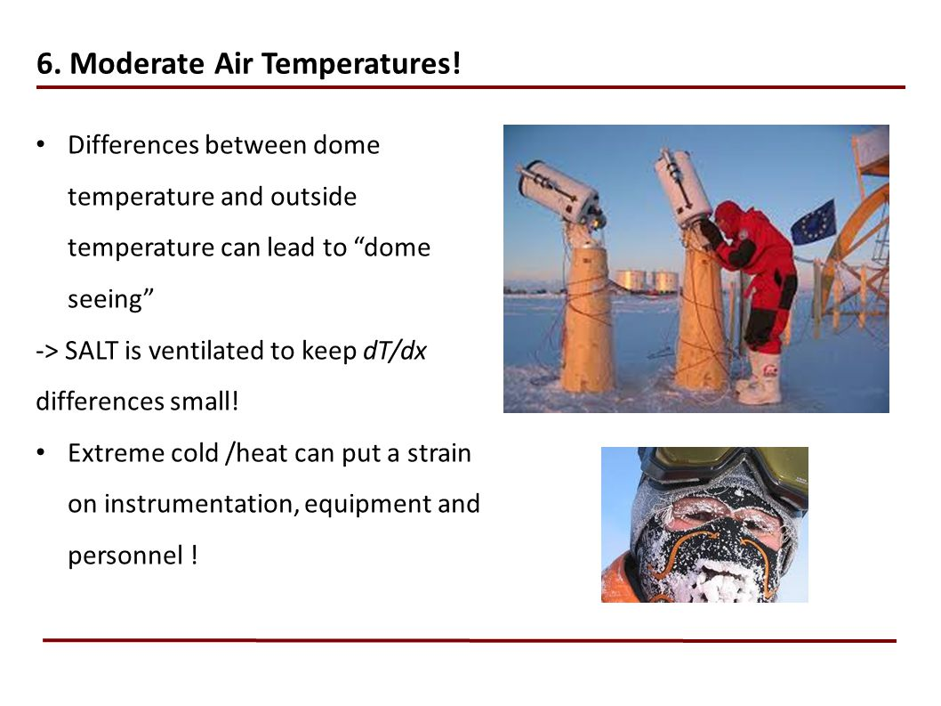 6. Moderate Air Temperatures!
