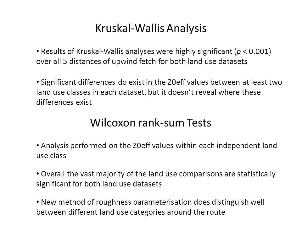 Kruskal-Wallis Analysis