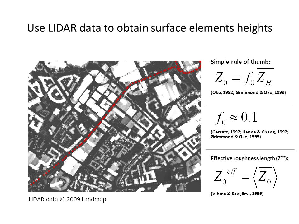 Use LIDAR data to obtain surface elements heights