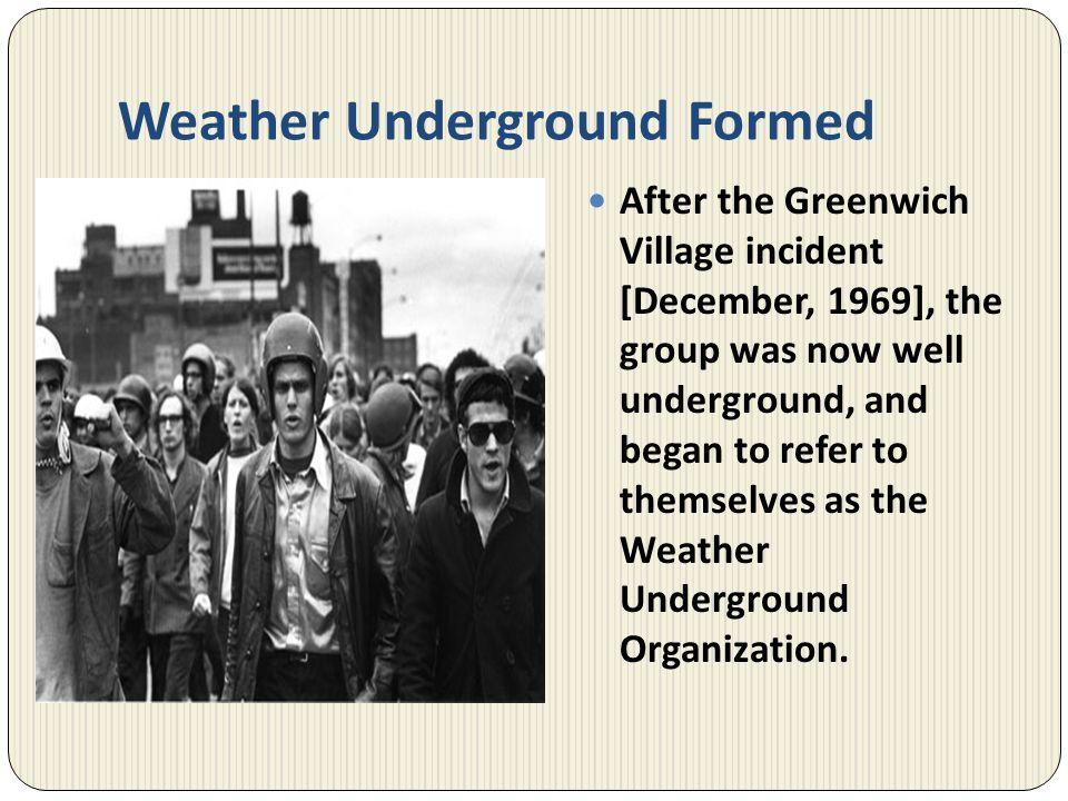 Weather Underground Formed