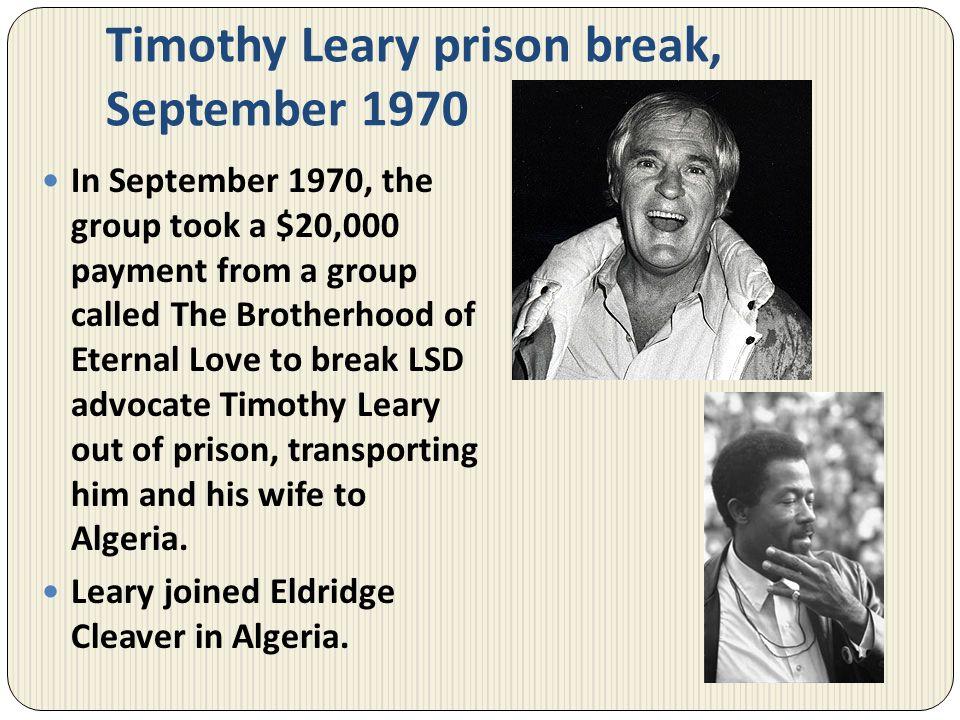 Timothy Leary prison break, September 1970