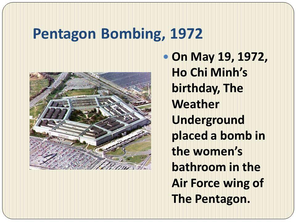 Pentagon Bombing, 1972
